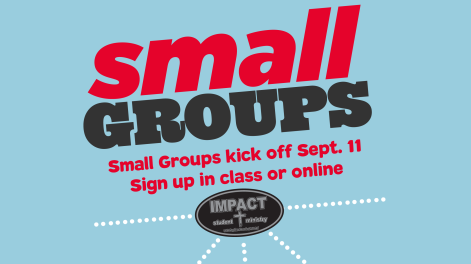 Small Groups promo 16-17